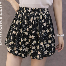 2018 Summer High Waist Shorts Women Spodenki Damskie Floral Printing Femme Pantalon Corto Mujer Casual Women Short