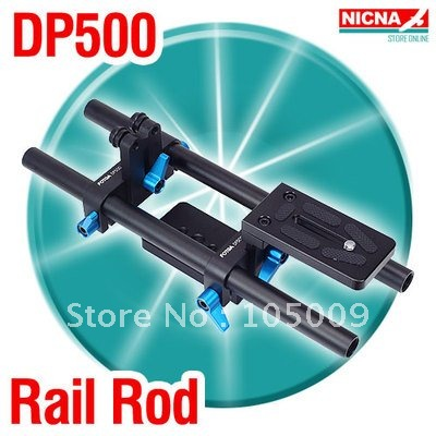 Fotga DP500 Standard 15mm Rail Rod Support for DSLR Follow Focus Rig Mattebox fotga dp3000 m2 rail system 15mm rod support rig for follow focus matte box