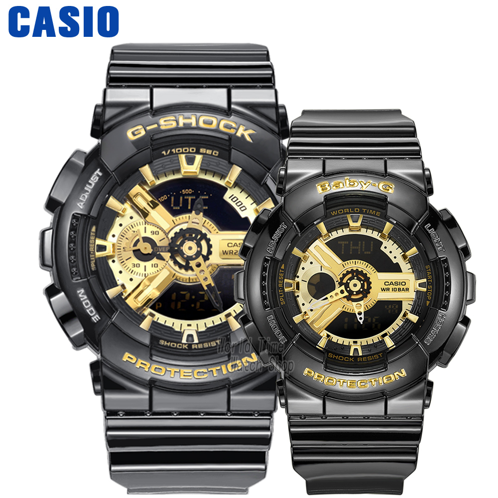 Casio watch Couple watches men and women fashion sports watch waterproof electronic form GA-110GB-1A BA-110-1A GA-110DC-2A