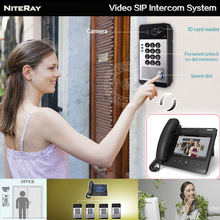 2017 New video door phone office IP video intercom door control voip phone waterproof outdoor IP intercom SIP video phone