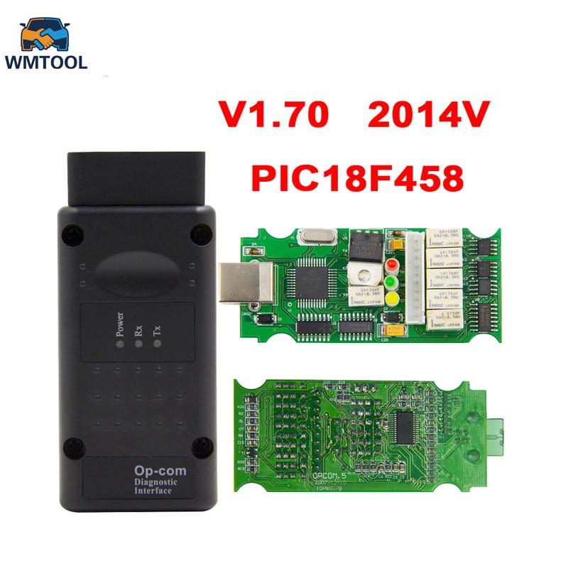 Opcom V1.70/V1.78/V1.95 2014 v Avec PIC18F458 FTDI FT232RL Puce OBD OBD2 Outil De Diagnostic Pour Opel Op com Peut Bus Câble De Diagnostic