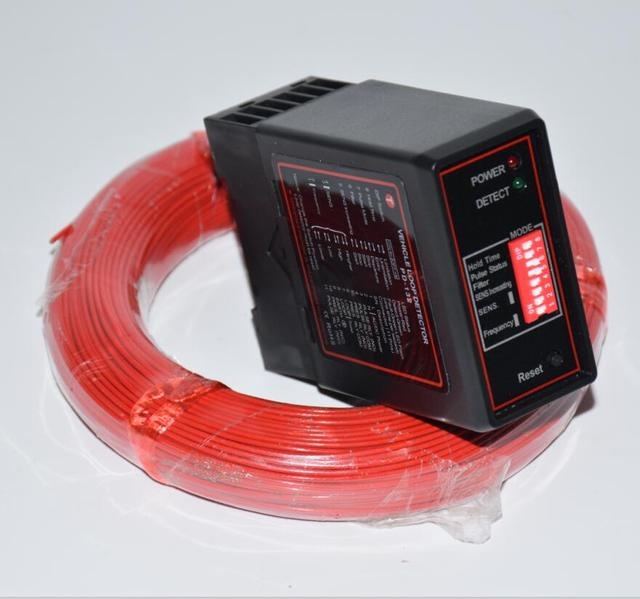 parking access control inductive loop detector ground sensor with 50m cable loop