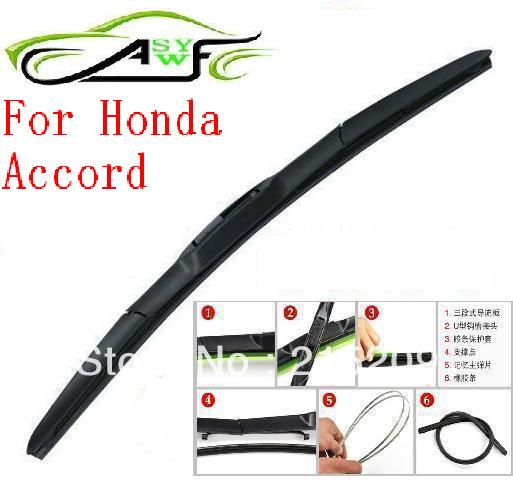 Free Shipping Auto Car Windshield Wiper Blade For Honda Accord Hook Type  Wiper Arm Soft Rubber WindShield Wiper Blade 2pcs/PAIR In Windscreen Wipers  From ...