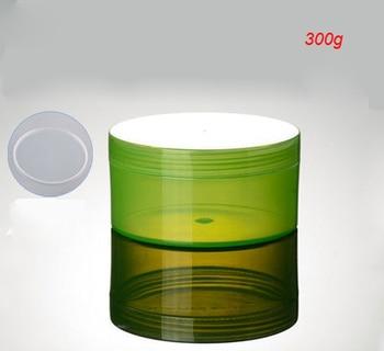 300G green plastic cream jar for cream ,gel facial scrub body scrub mask cream container ,300g green large cosmetic container