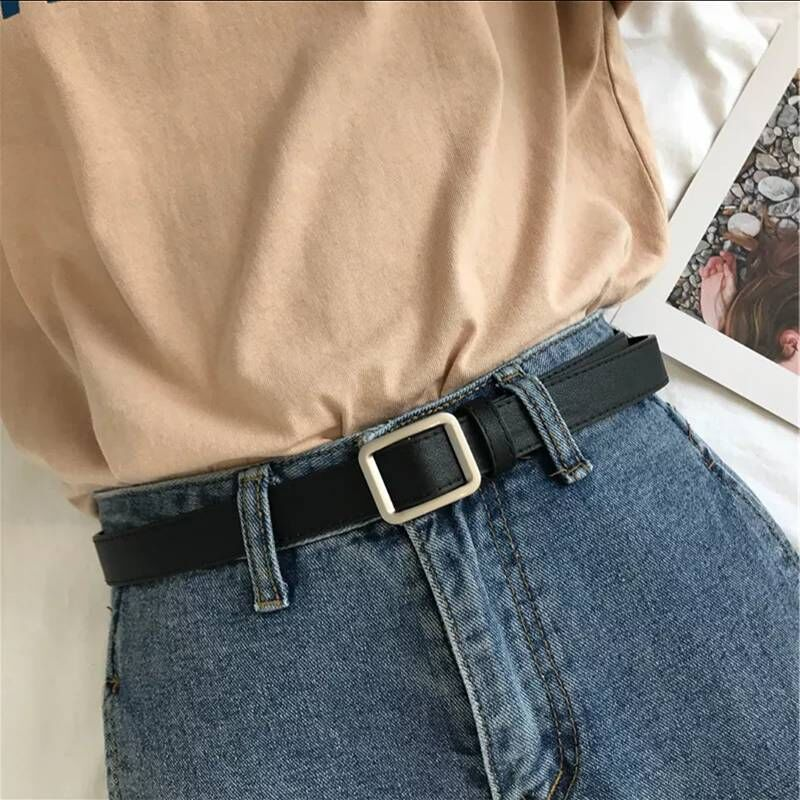 New Arrival Women Casual   Belt   Smooth Buckle for Female Jeans Wild   Belts   for Fashion Students Simple Casual Trousers