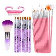 Acrylic Nail Art Brush Set Nail Dotting Tool Vanish Polish Painting Brush Pen Set Manicure Kit UV Gel Design Nail Brushes Tools