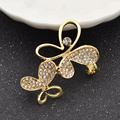 Women Hot Clip Earrings Earcuff 10 Designs Trendy Rhinestone Flower Plated Alloy Ear Cuff Fashion