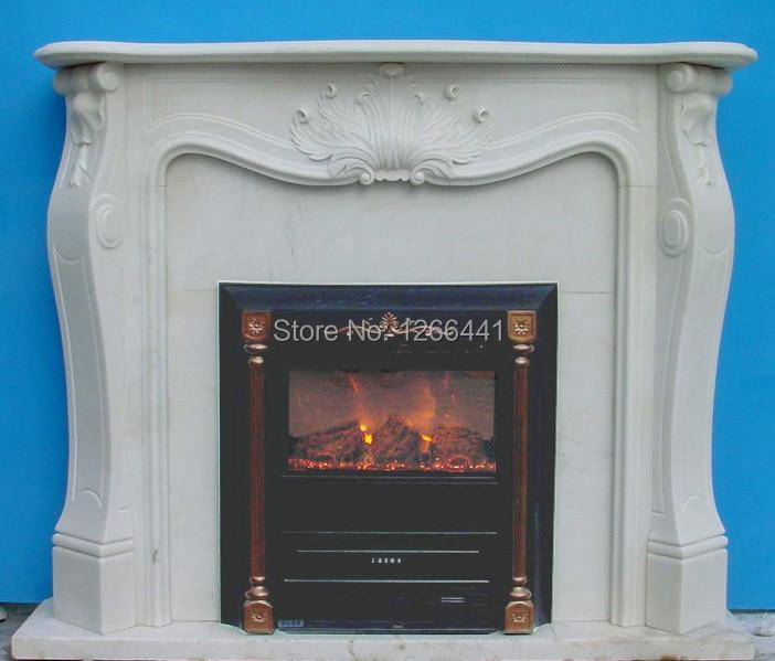 fireplace customizing stone mantel plus electric fireplace insert artificial optical flame decoration - Electric Fireplace With Mantel
