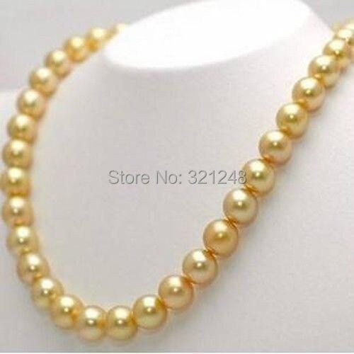 28357c8b1f20 Precio al por mayor estilo de la moda envío gratis 10mm oro simulado-perla  perlas collar 36 pulgadas BV127