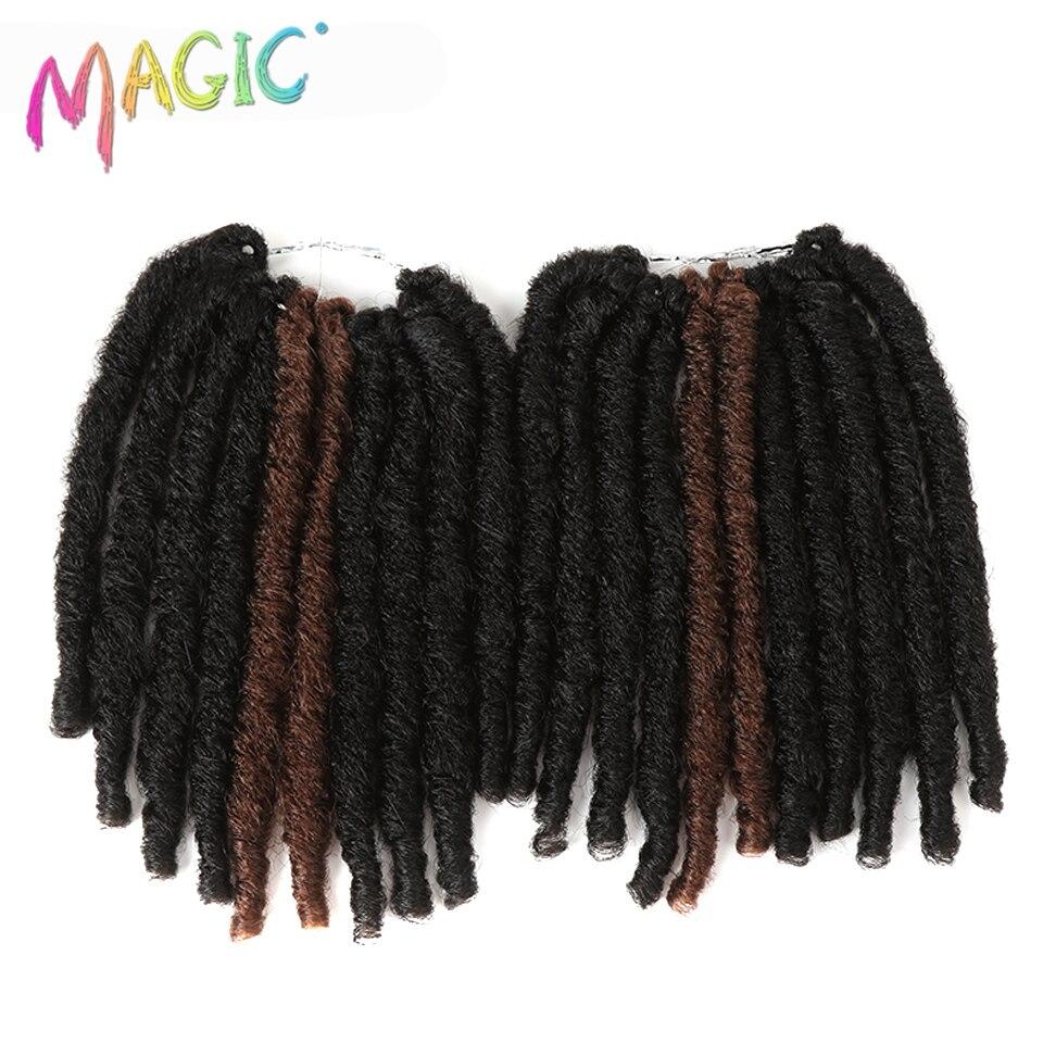 Magia 10 Polegada 20 vertente Falso Dreadlocks Tranças De Crochê Extensões Do Cabelo da Fibra de Alta Temperatura Cabelo Sintético Da Trança Pavor Suave