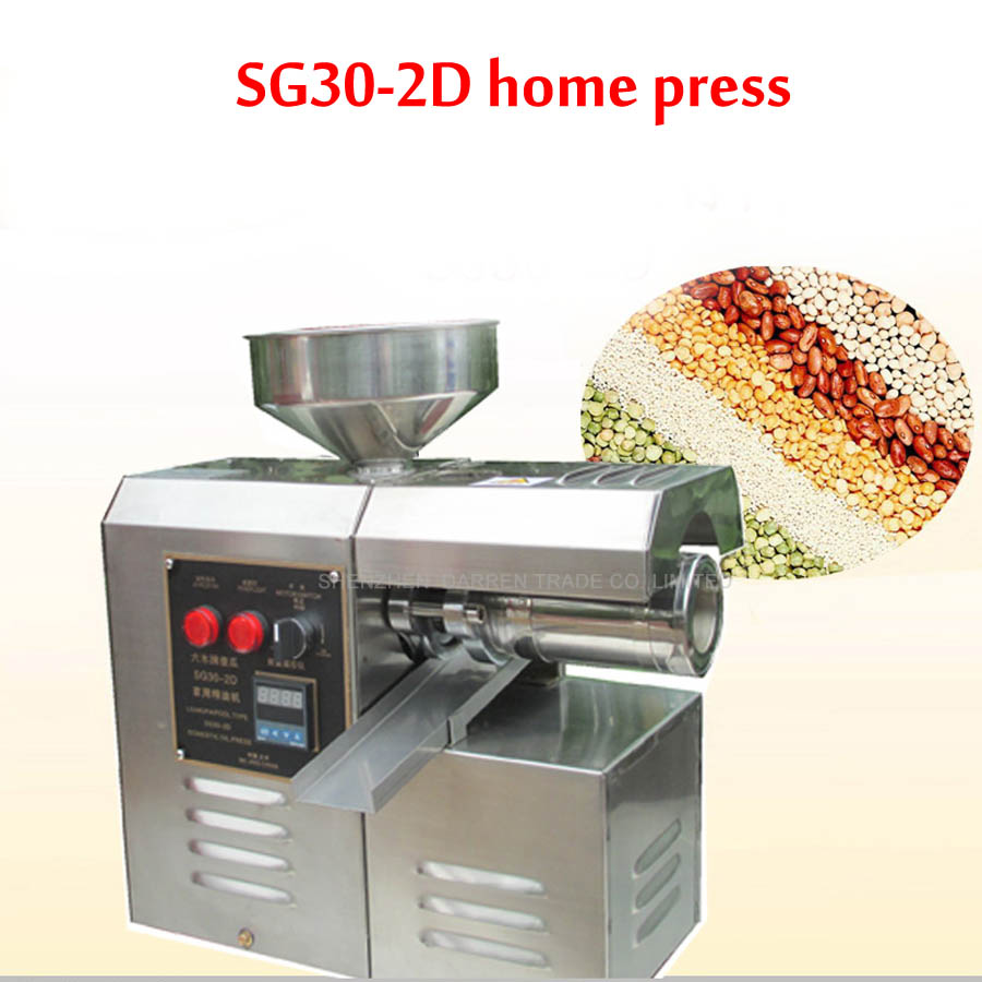 где купить Edible Oil Press Machine High Oil Extraction Rate Labor Saving stainless steel Oil Presser  SG30-2D  1PC по лучшей цене
