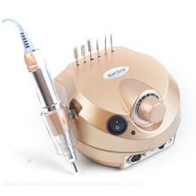 Broca para manicure dourada, kit de manicure e pedicure, lixa de unha, ferramenta para arte em unhas, 35000 rpm, máquina de manicure profissional