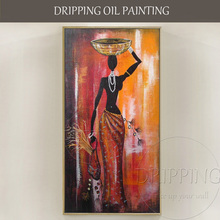 Classical Wall Art Decor Painting Handmade High Quality Canvas African Woman Oil on Pictures