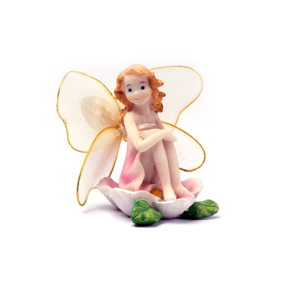 1pcs Симпатичные Миниатюры Fairy Garden декорациялар Flower Angels Resin Fairy Micro Plant Зығырдан безендіру Mini Bonsai мүсіншесі