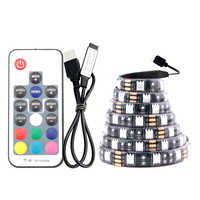 USB LED Strip Light 5V PC RGB 5050 1M 60Led/M 3 17 Key Controller USB Led Strip 5V RGB TV Backlight Waterproof Tape Diode Lamp