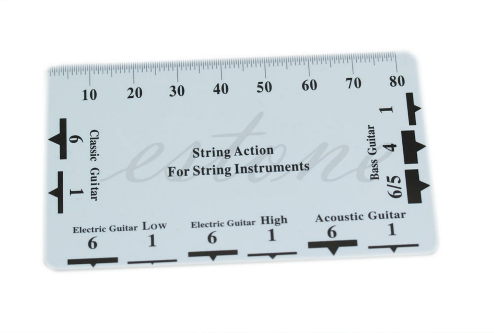 Guitar Bass String Pitch Ruler Gauge String Action Measuring Guitar Luthier Tool W15