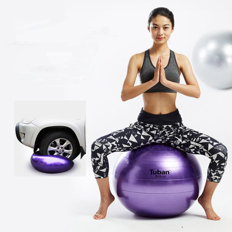 2019 New 65cm Health Fitness Yoga Ball 5 Color Utility Anti-slip Pilates Balance Yoga Balls Sport Fitball Proof for Gym Fitness