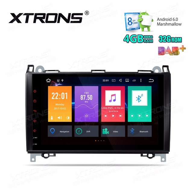9&#8243; Octa-Core Android 6.0 4GBRAM+32GB <font><b>Car</b></font> Multimedia GPS Radio for Mercedes-Benz A-Class W169 2004-2012 &#038; Sprinter W906 2006-2012