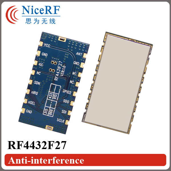 Image 2 - Free Shipping 5pcs/lot RF4432F27 500mW SPI Interface Embedded Anti interference FSK/GFSK/OOK 433MHz RF Module-in Communications Parts from Cellphones & Telecommunications