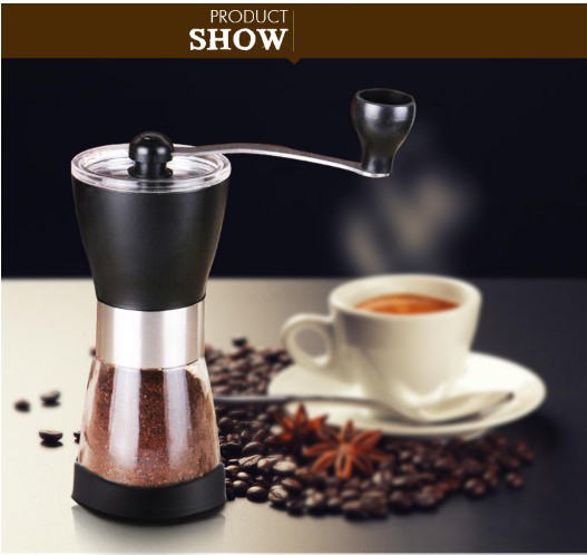 Ceramic Burr manual coffee maker stainless coffee grinder  Manual Coffee Maker Adjustable