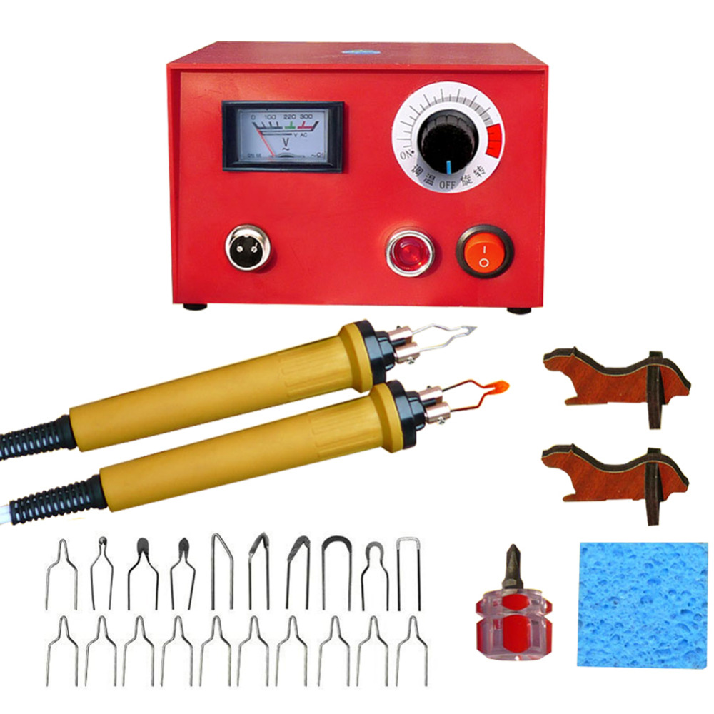 EU US Plug Rework Soldering Station Digital Pyrography Pen Machine Kit Wood Burning Electric Irons Crafts Tools