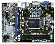 Free shipping 100% original motherboard for MSI H61M-S26 V6 DDR3 LGA 1155 Desktop Motherboard