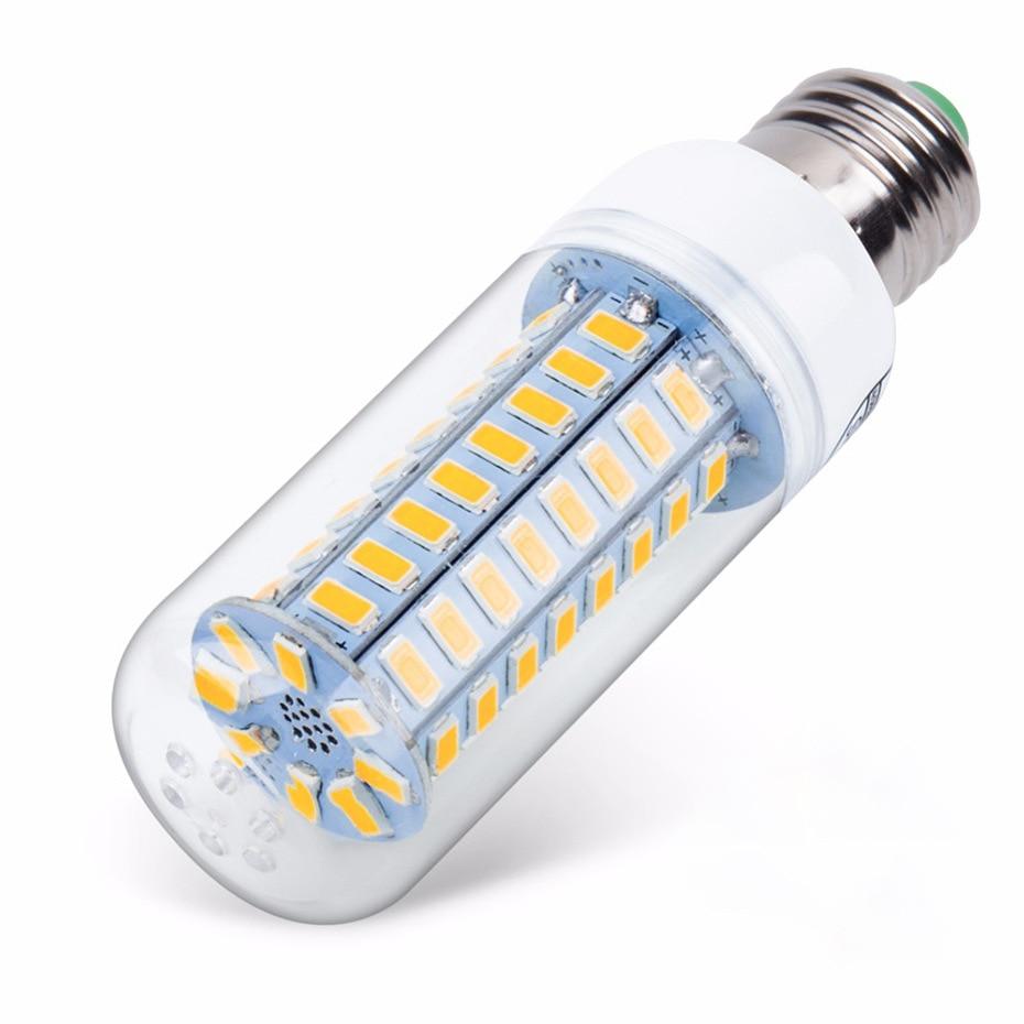 E27 LED Lamp 220V SMD 5730 E14 LED Light 24 36 48 56 69 72 LEDs Corn Bulb Chandelier For Home Lighting LED Bulb