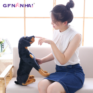 Image 4 - 1pc 30/40cm Simulation Dog Plush toy Creative Realistic Animal Sitting Dog Dolls Stuffed Soft Toys for Children Birthday Gift