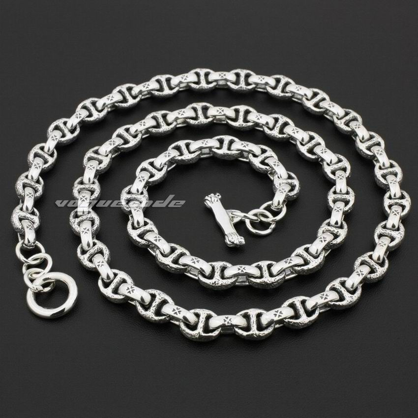 18 to 36 inches Huge Heavy Solid 925 Solid Sterling Silver Mens Biker Necklace 8L008 Free Shipping solid 925 sterling silver huge
