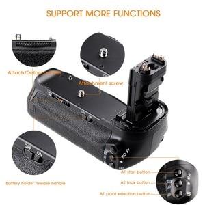 Image 4 - Travor, soporte vertical de batería para Canon 60D 60Da, reemplazo para cámara DSLR BG E9 + 2 uds., batería de LP E6 + 2 uds, paño para lente