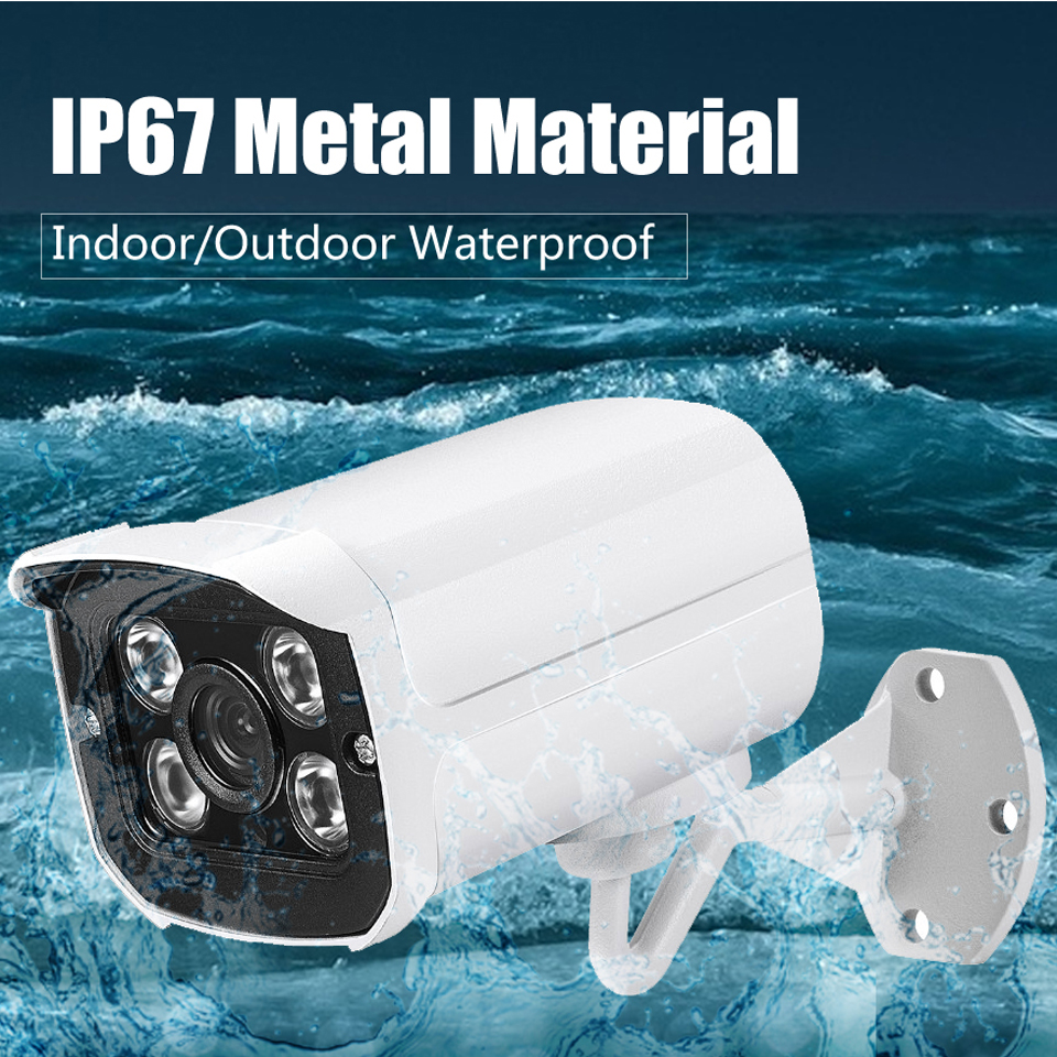BESDER Wide Angle 2.8mm Outdoor IP Camera PoE 1080P 960P 720P Metal Case ONVIF Security Waterproof IP Camera CCTV 4PCS ARRAY LED 3
