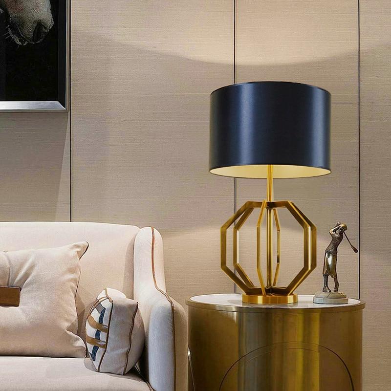 Designer desk lamp American bedroom bedside decorative golden luxury study personalized creative LO711010