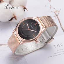 Lvpai Brand Ladies Watches Watches Women Big Round Dial Quartz Concise And Easy Wristwatch