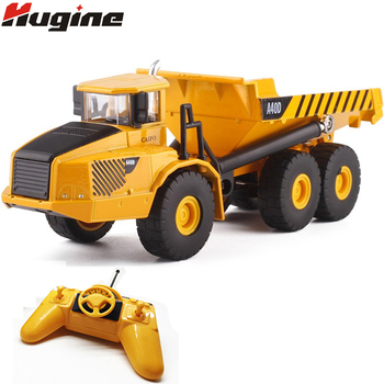 RC Truck 6CH Remote Control 1:28 Project Tilting Cart Big Dump Truck Engineering Vehicles Loaded San Carrier Vehicle Toys  Gifts