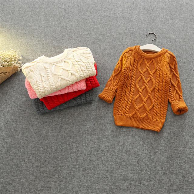 2016 nuevos suéteres de invierno de color sólido suéter de las muchachas suéter de los cabritos ropa de las muchachas niños ropa BC-SY510