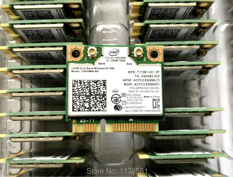 WIRCARD For Intel 7260HMW 7260AN 300Mbps Half Mini PCI-e Bluetooth4.0 Wireless Wifi Card 2.4G/5G