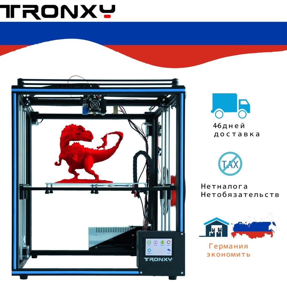 Tronxy X5SA Touch Screen Auto Nivelamento Impressora DIY 3D Full metal Grande máquina de impressão 3d
