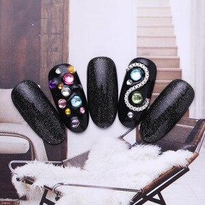 Image 4 - Diamantes uñas de tamaño mezclados imitación para decoración de manicura transparente