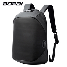 BOPAI Brand USB External Charge Backpack Laptop Bag Shoulders Men Password Lock Anti-theft Backpack Waterproof Laptop Backpack