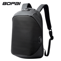BOPAI Brand USB External Charge Backpack Laptop Bag Shoulders Men Password Lock Anti Theft Backpack Waterproof