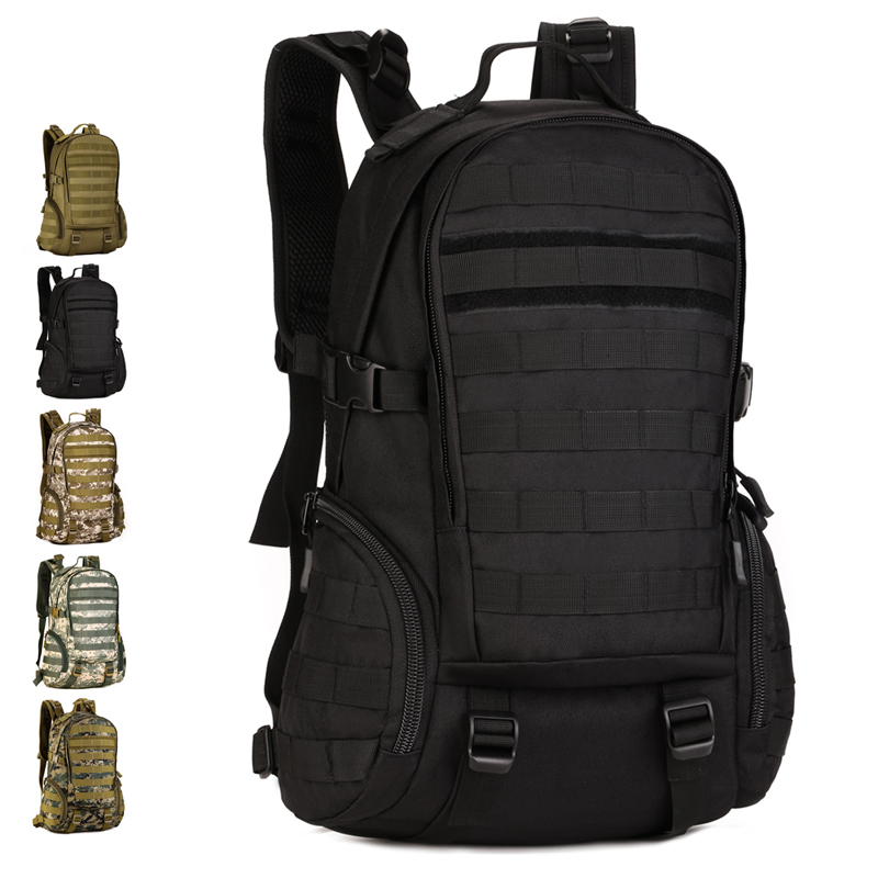 Multifunction Backpack 35L Nylon Camo Tactical MOLLE Assault Pack Hiking Climbing Travel Camping Hunting Cycling 14 laptop bag woodland camo unisex tactical assault backpack camping travel bag multicam combination mountaineering shoulders backpack