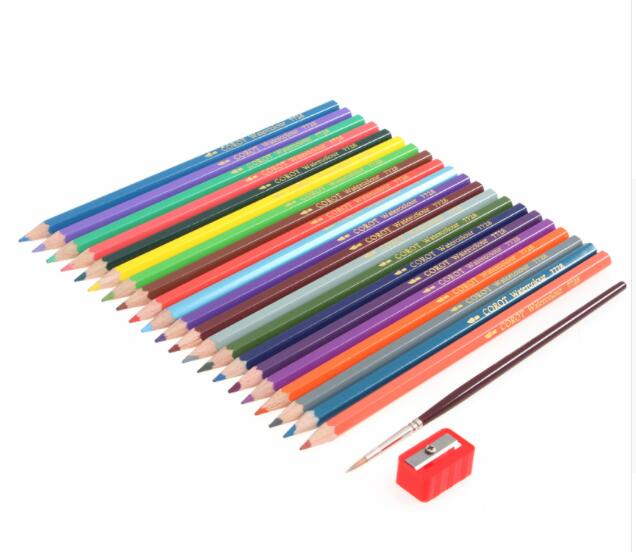 72 Colors Safe Non-toxic Indonesia Lead Water Soluble Colored Pencil Watercolor Pencil Set For Write Drawing Art Supplies 12 24 36 48 72 colors non toxic indonesia lead water soluble colored pencil watercolor pencil set for write drawing art supplies
