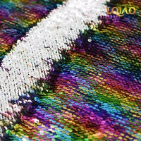 Customize 1 pc Rainbow Silver 199x232cm Reversible Sequin Tablecloth