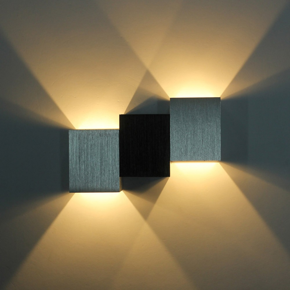 Bedroom modern wall lights - Ecobrt 2 3w High Power Led Wall Light Up Down Modern Wall Lights Aluminum Wall Lamp