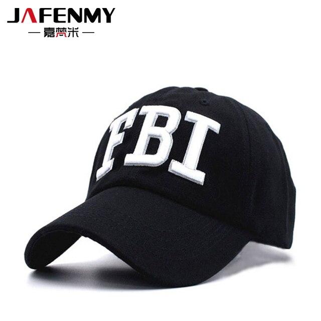 Di alta qualità FBI Berretto Da Baseball di estate Cappelli Berretto Nero  maschio per donne uomini 57217006fbdd