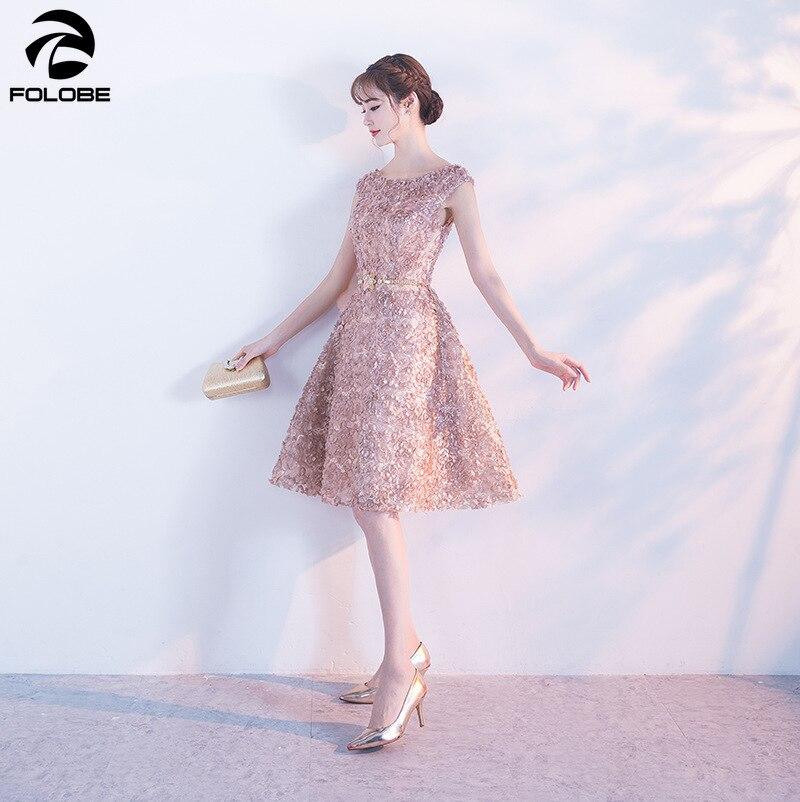 FOLOBE Fashion Elegant Party Dress Vrouwen Mouwloze Jurk Vrouwelijke Bloemen Kant Vrouwen Jurk Casual Slim Lady Jurk-in Jurken van Dames Kleding op  Groep 3