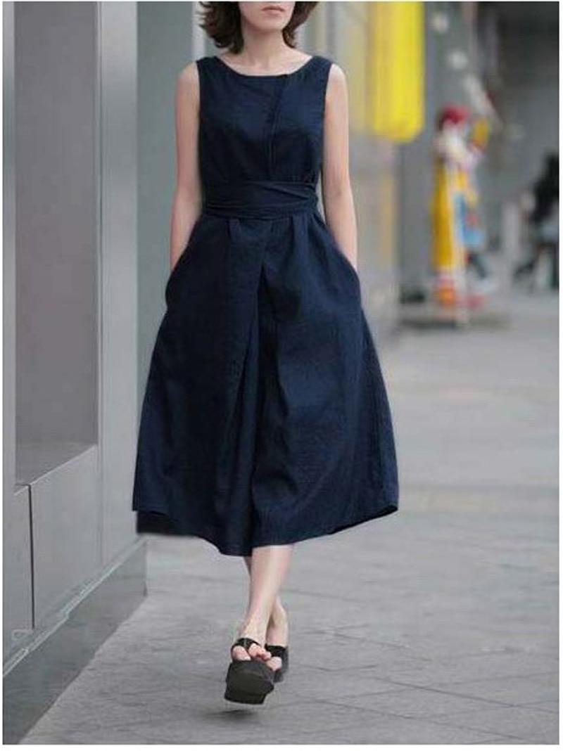 Navy Blue Summer Dresses Women