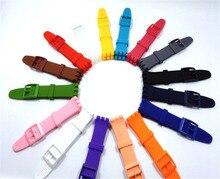 Bracelet de montre en caoutchouc Silicone pour bracelet 16mm 17mm 19mm 20mm accessoires de bracelet de montre