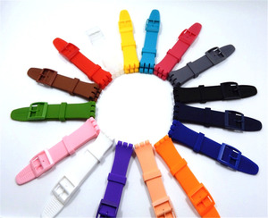 Image 1 - Rubber Silicone Wrist Watch Band Strap for Swatch 16mm 17mm 19mm 20mm Watchband Accessories