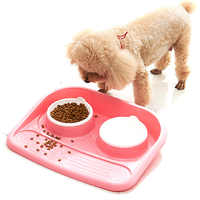 2019 nuevo listado de comida para mascotas a prueba de salpicaduras cuenco para perros plástico verde cachorro lavable y a prueba de fugas gato grande